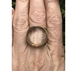 Кольцо серебряное с позолотой и кварцем (55 4521)