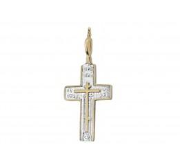 Крестик позолоченный (П32/043)