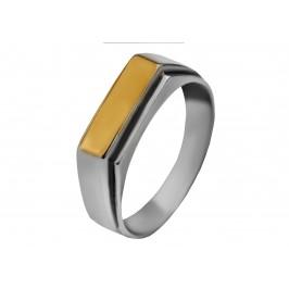 Печатка серебряная с золотом (389з)