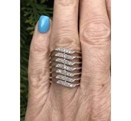 Кольцо серебряное с цирконием Пандора (100795)