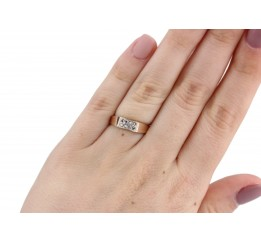 Кольцо серебряное с золотом Изящность (0206.10к)