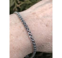 Браслет серебряный Круглый бисмарк лёгкий (701лч)