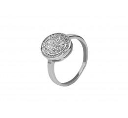Кольцо серебряное с фианитами (с10220)