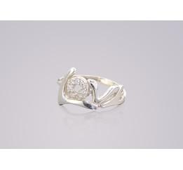 Кольцо серебряное с цирконием Н Лав (100671)