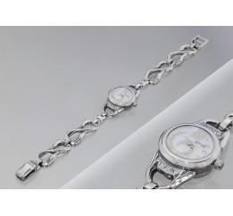 Часы серебряные с цирконием 11 (7110009)