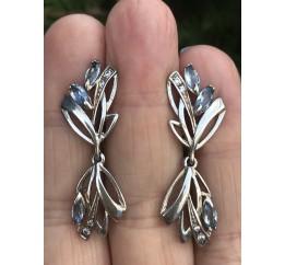 Серьги серебряные с цирконием Адель (1112274)