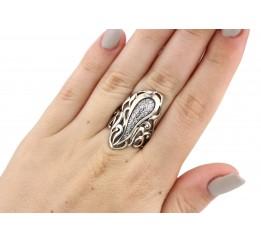 Кольцо серебряное с цирконием эксклюзивное Инна (2112286)