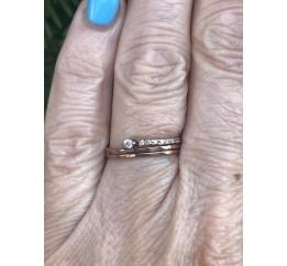 Кольцо серебряное с позолотой и цирконием (1512112201)