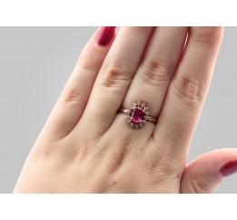 Кольцо серебряное с позолотой и цирконием (1112006233)