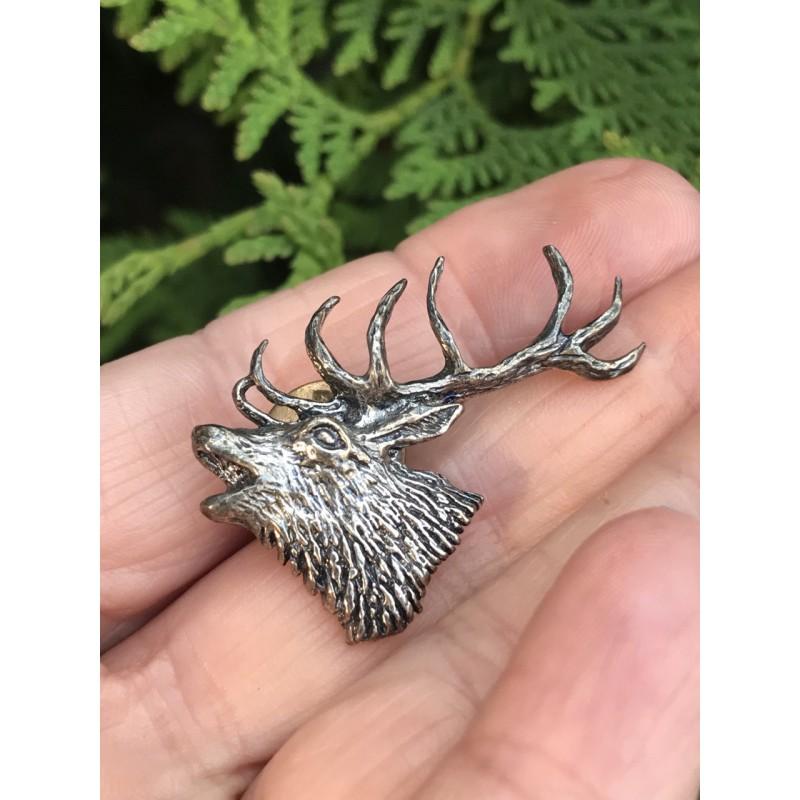 Значок серебряный Лось (0030007100)