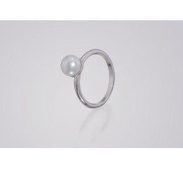 Кольцо серебряное с жемчугом Жемчужинка 2 (К523р)