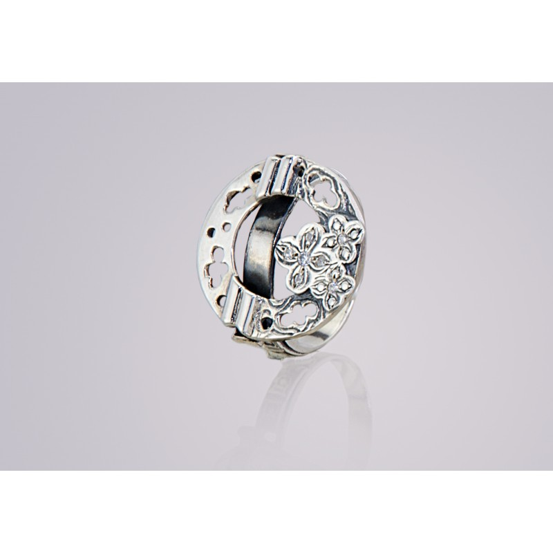 Кольцо серебряное с цирконием Флок (2111548)