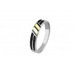 Кольцо серебряное с золотом и эмалью Карина (702)