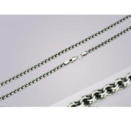 Браслет серебряный Плоский бисмарк лёгкий (702лч)