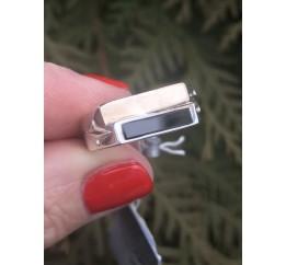 Печатка серебряная с золотом (504з)