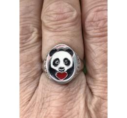 Кольцо серебряное Панда (162535)