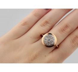 Кольцо серебряное с позолотой и цирконием (1110442201)
