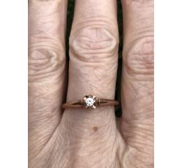 Кольцо серебряное с позолотой и цирконием (011689)