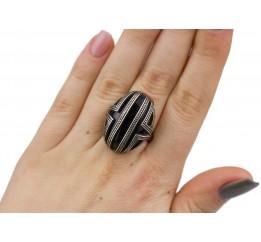 Кольцо серебряное с ониксом Консул (1913о)