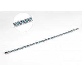 Браслет серебряный с голубым цирконием Арабка (1713Л)