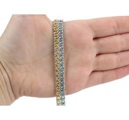 Браслет серебряный с цирконием Арабка (17002л)