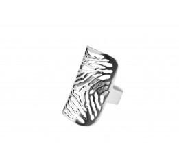 Кольцо серебряное Зебра (ск7)