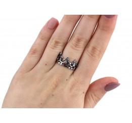 Кольцо серебряное с цирконием Корона (10518)