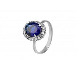 Кольцо серебряное с цирконием Ода (748к)