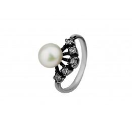 Кольцо серебро с жемчугом (161059)