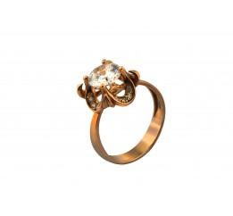 Кольцо серебряное с позолотой и цирконием (1112070201)