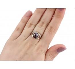 Кольцо серебряное с золотом и жемчугом Перлинка (0212.10кч)