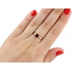 Кольцо серебряное с золотом (0239.10к)