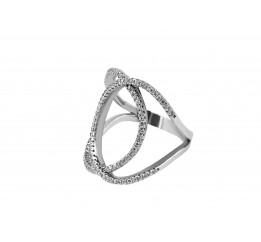 Кольцо серебряное с цирконием эксклюзивное (33543)