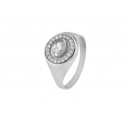 Печатка серебро (01316)