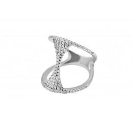 Кольцо серебряное с цирконием эксклюзивное (2899)