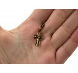 Крестик позолоченный (103п)