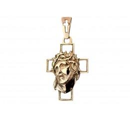 Крестик позолоченный (151п)