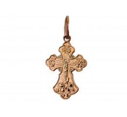 Крестик позолоченный (165п)