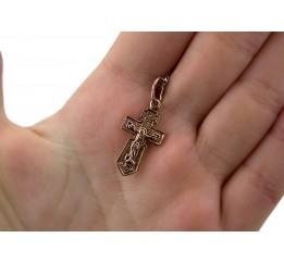 Крестик позолоченный (197п)