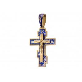 Крестик с эмалью (108п_синий)