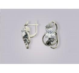 Серьги серебряные Тверь (1110891)