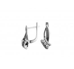 Серьги серебряные с цирконием Мирелла (1112394)