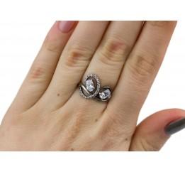 Кольцо серебряное с цирконием Лукреция (2112959)