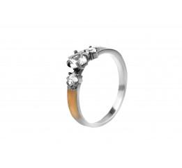 Кольцо серебряное с золотом (102к)
