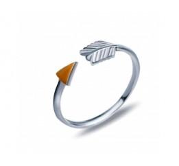 Кольцо серебряное с золотом на фалангу (352к)