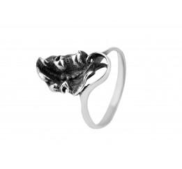 Кольцо серебряное Лист (2100269)