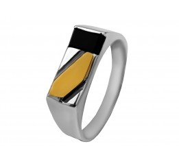 Печатка серебряная с золотом (371з)