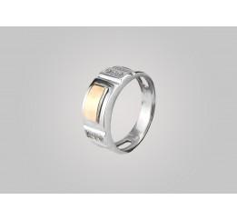 Печатка серебряная с золотом (590з)