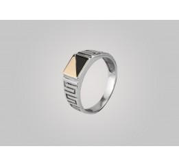 Печатка серебряная с золотом (513з)