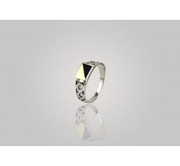 Печатка серебряная с золотом (516з)